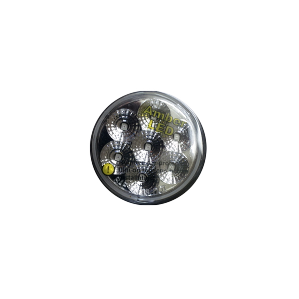 "2"" Clear/Amber LED Marker Light Low Profile"