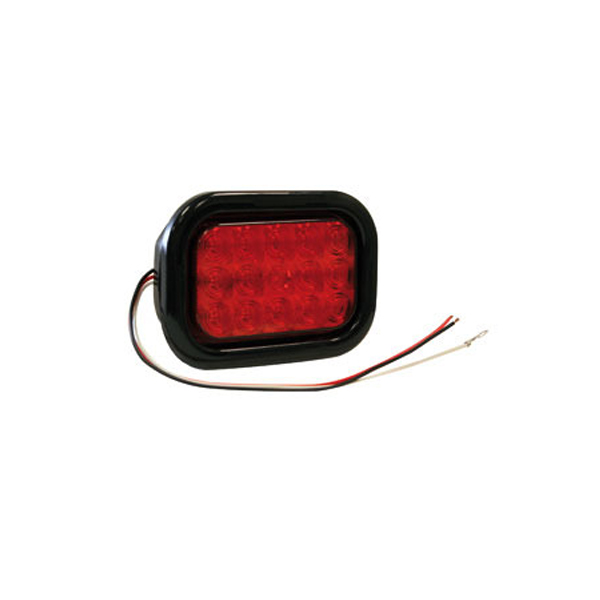 "5-1/3"" Rectangular Light, 15 LED Amber"