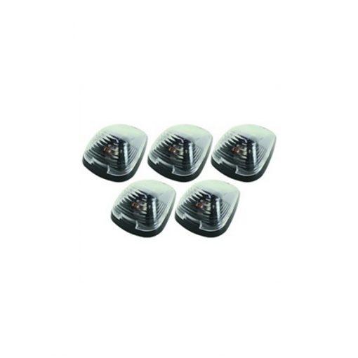 5 Strobe / Marker Light Set, Clear 5 Diode LED Roof Lights
