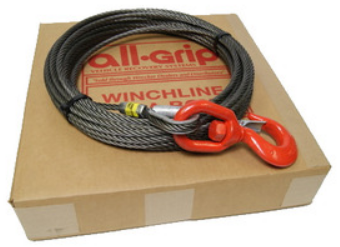 7/16 inch 100 ft. Steel Large Hook Winch Cable WL07100SZS