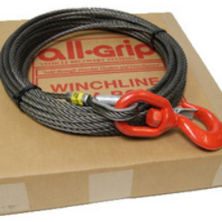 7/16 inch 75 ft. Fiber Large Hook Winch Cable WL07075FZS