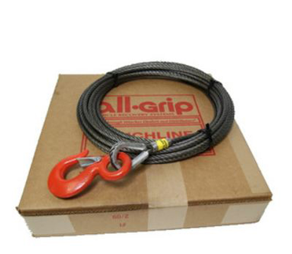 7/16 inch 75 ft. Steel Large Hook Winch Cable WL07075SZ