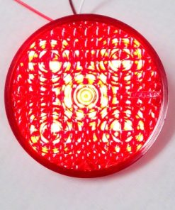 "4"" LED Red/Clear by TecNiq Lifetime Warranty MADE IN USA"