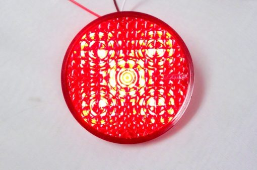 """4"""" LED Red/Clear by TecNiq Lifetime Warranty MADE IN USA"""