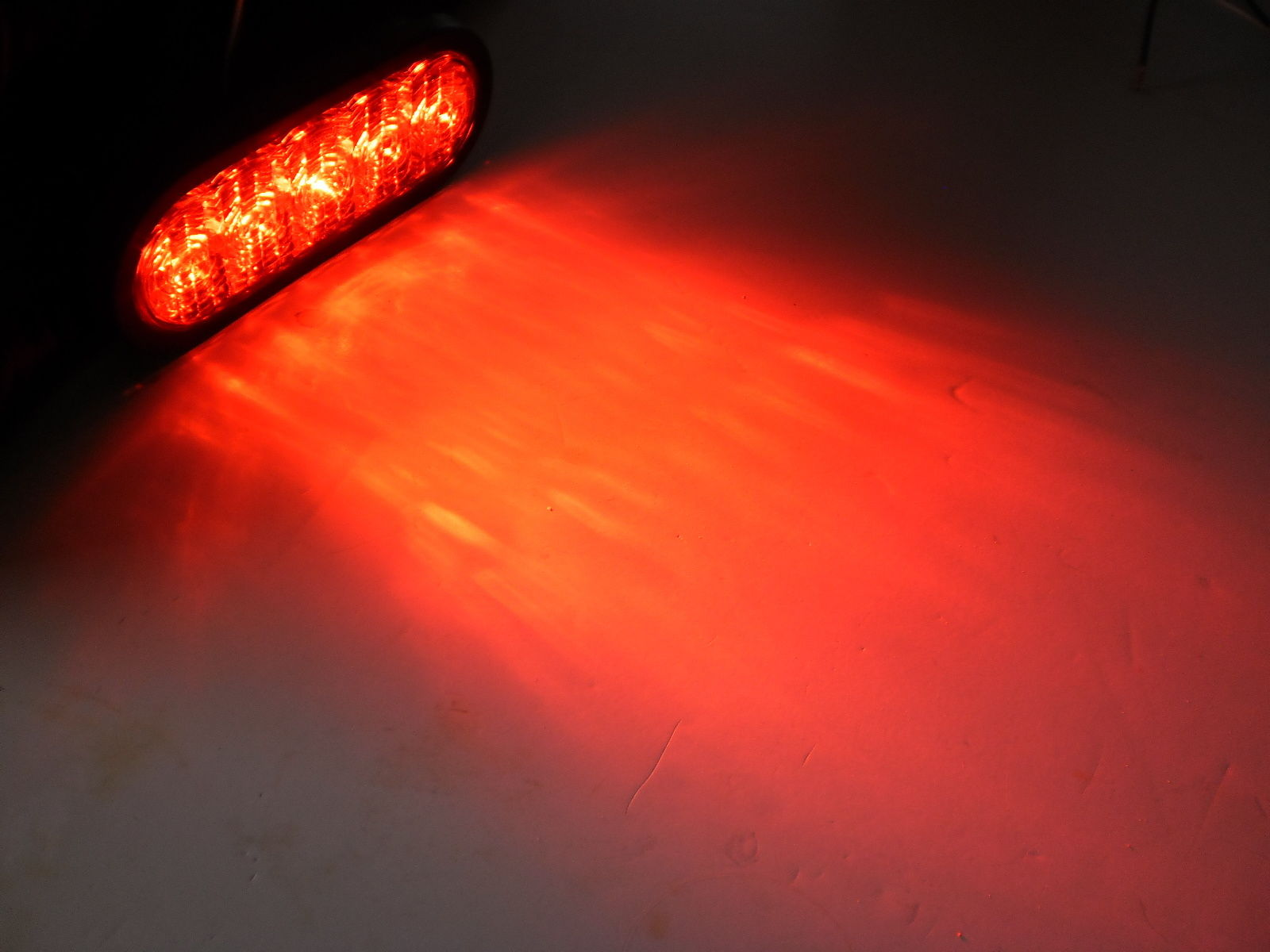 """6"""" Oval LED Red/Clear by TecNiq Lifetime Warranty MADE IN USA"""