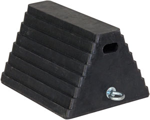 Heavy-Duty Rubber Wheel Chock w/Chain Eye