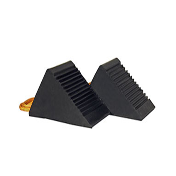 Rubber Mini-Wheel Chock Pair with Rope