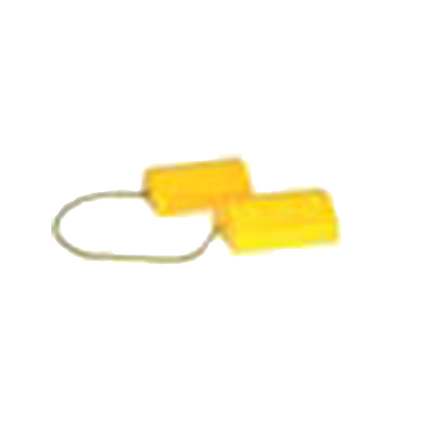 "Yellow Composite Wheel Chock Set w/ Rope, 9-1/2"" x 6"" x 4"""