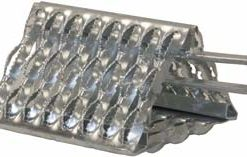 Serrated Wheel Chock, Galvanized