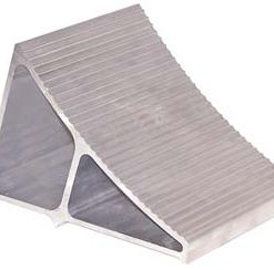 "Extruded Aluminum Wheel Chock, 6"" x 9"" x 6"""
