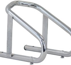 Motorcycle Wheel Chock, Chrome