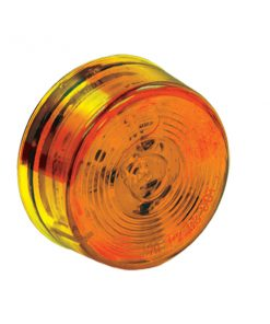 "2"" Round Marker Light, 1 LED Amber, Bulk"
