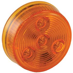 """2"""" Round Marker Light, 4 LED Red, Bulk"""