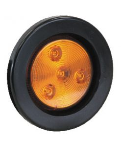 "2-1/2"" Round Marker Light, 4 LED Amber"
