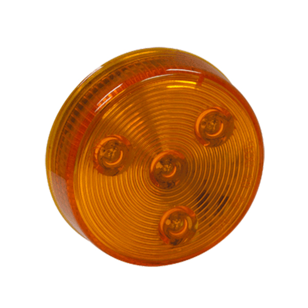 "2-1/2"" Round Marker Light, 4 LED Amber, Bulk"