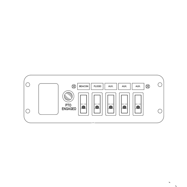 Switch Panel - 5 Function, In-Dash