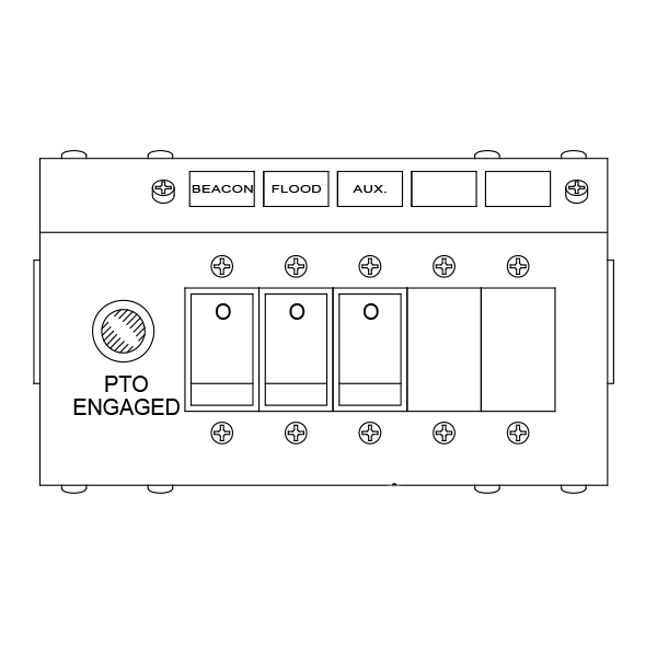 Switch Panel - 3 Function, Under Dash