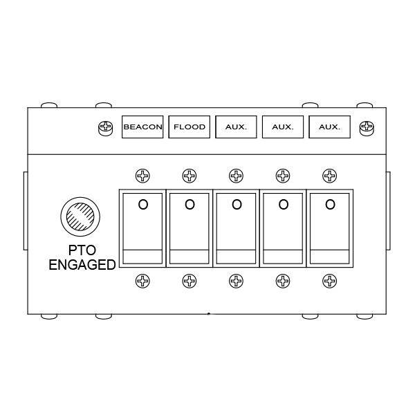 6 button switch panel