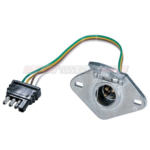 4-Way Flat Plug to 4-Way Round Socket
