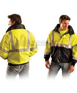 Black Bottom Bomber Winter Jacket
