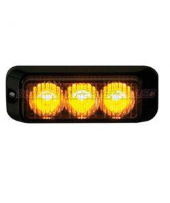 """3"""" LED Surface Mount Strobe Light, Amber 12 Function"""