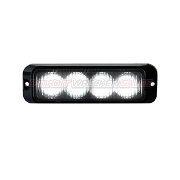 "4"" LED Surface Mount Strobe Light, Clear 19 Pattern"