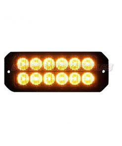 """5"""" 12 LED, Light Strobe, Amber"""