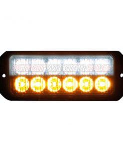 """5"""" 12 LED, Light Strobe, Amber/Clear"""