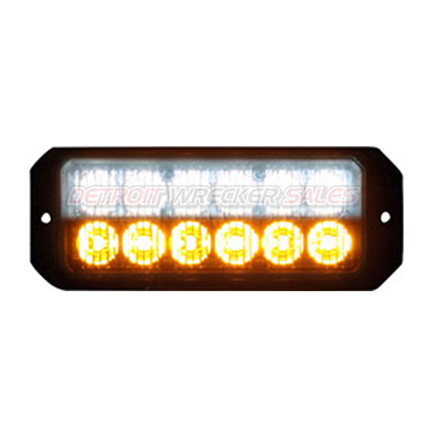 "5"" 12 LED, Light Strobe, Amber/Clear"