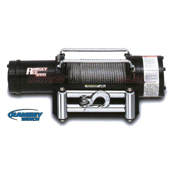 9000 Electric Winch w/ Roller Fairlead