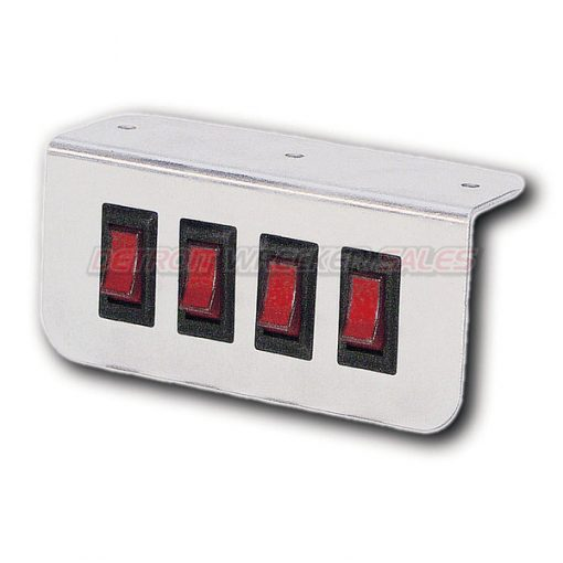 Aluminum Lighted Switch Panel 4 Button