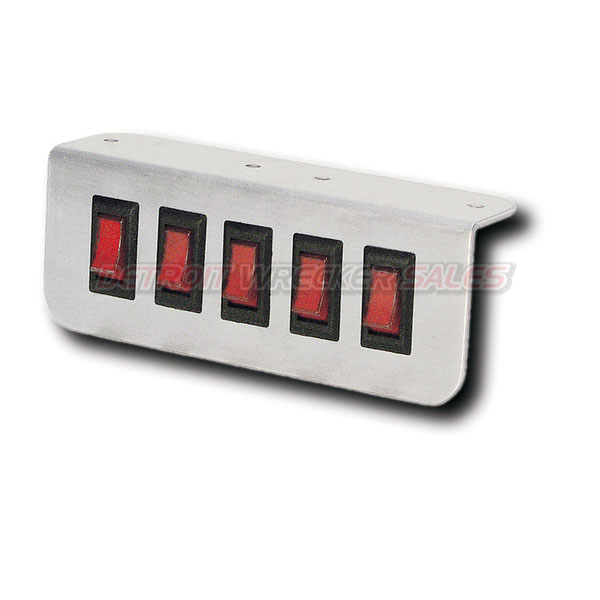 Aluminum Lighted Switch Panel 5 Button