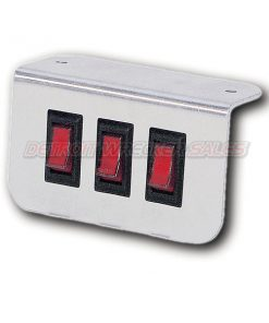 Aluminum Lighted Switch Panel 3 Button