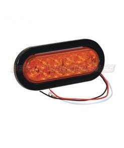 "6-1/2"" Oval Turn & Park Light, 10 LED Amber"