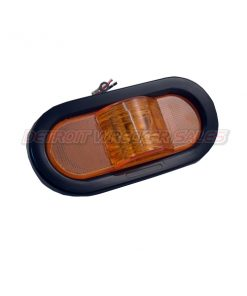 Oval Mid-Turn Side Marker 9 LED Amber w/ Grommet & Plug