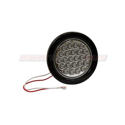 "4"" Round Backup Light, 24 LED Clear"