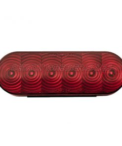 "6"" Oval LED Red by TecNiq Lifetime Warranty MADE IN USA"