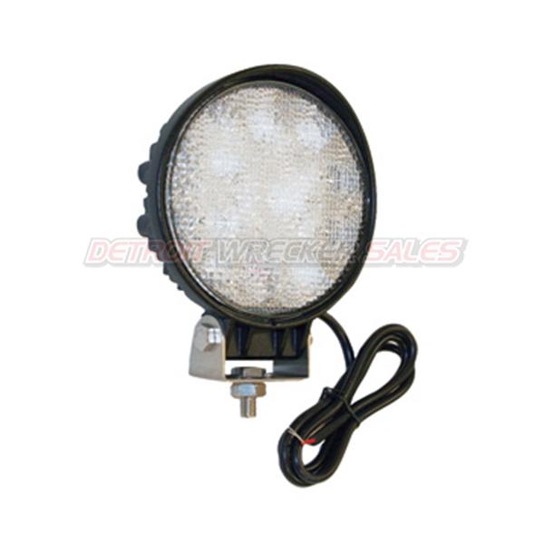 LED Clear Round Flood Light, 12 Volt