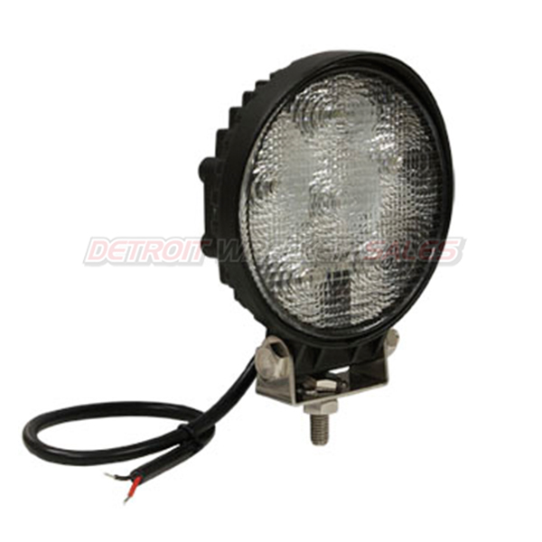 LED Clear Flood Light, Black Housing