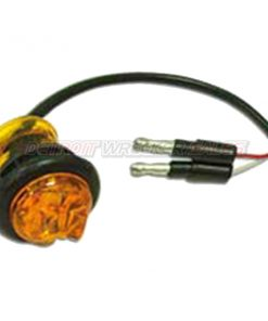 "3/4"" Round Marker Light, 3 LED Amber"