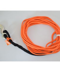 Synthetic Winch Rope 3/8 75ft Fixed hook