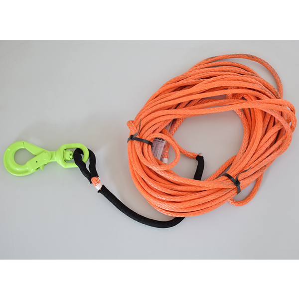 3/8 Synthetic Winch 50 Line Self Locking Hook